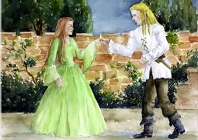 Cover Art from The Elf and the Princess